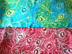 Peacock Feathers Batik Silk Scarves
