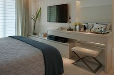 Love the simplicity of interior Tv In Bedroom, Home Decor Bedroom, Modern Bedroom, Bedrooms, Condo Living, Home And Living, Couple Room, Suites, Small Apartments