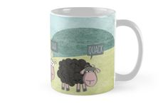 Not all sheep were born to follow the rules. Some of them are just tired, and want to break free. #Fun #rebel #sheep #mug available on #redbubble.