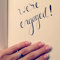 Spell it out. There is no way that your friends and family will mistake the good news for anything but an engagement! @myweddingdotcom