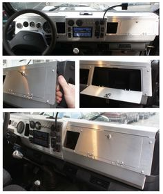 ACC16 Defender TD5 aluminium dashboard