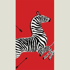 Red Zebras Paper Guest Towels - 15 per package