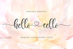 Hello Cello is a modern handwritten font with amazing heart-shaped swashes. Fall in love with its authentic feel and use. Cute Fonts, All Fonts, Khalid, Apple Mac, Cello, Calligraphy Fonts, Handwritten Fonts, Cursive Fonts, Monogram Fonts
