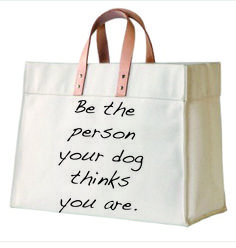 New! Buddy Canvas and Leather Tote for Cancer. | Dewdrop Designs