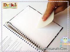 Como encapar caderno com tecido