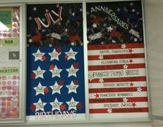 Birthday and Anniversary board for the work place.  4th of July
