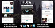 Flow - Multipurpose Responsive Email Template + Stampready Builder