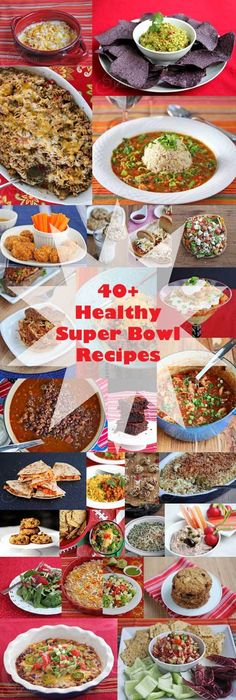 40+ Healthy Super Bowl Recipes ~ http://jeanetteshealthyliving.com