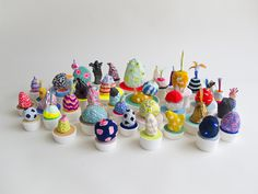 Adam Frezza & Terri Chiao - Lump Nubbins (series of small sculptures made from recycled paper pulp)