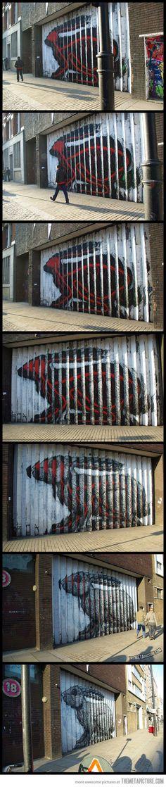 Funny pictures about Lenticular Street Art. Oh, and cool pics about Lenticular Street Art. Also, Lenticular Street Art. 3d Street Art, Amazing Street Art, Street Art Graffiti, Amazing Art, Banksy, Desenho Pop Art, Outdoor Art, Chalk Art, Public Art