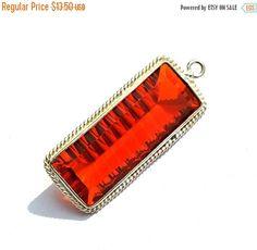 12% Valentine Day Orange Quartz Concave Cut by RareGemsNJewels