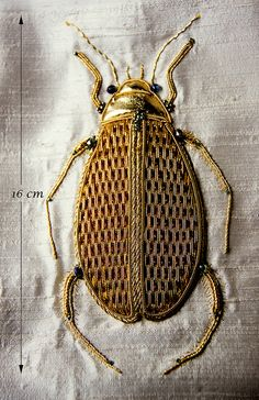 Chic Embroidered Beetle