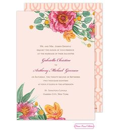 Simply Floral Wedding Invitation Always 15% off with ALWAYS15% code at checkout