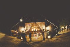 Evening barn wedding