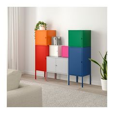 LIXHULT Storage combination IKEA A colorful and complete combination where you can store both large and small items.