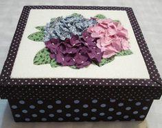 caixa de hortensias