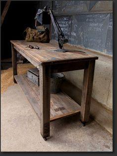 pine work table 1970  main