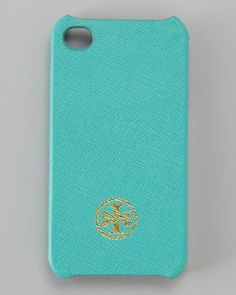 Tory Burch Robinson iPhone 4 Cover, Turquoise on shopstyle.com