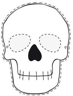 Skeleton printable for kids esk pinterest buscar con for Halloween face mask templates
