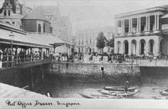 POST OFFICE SQUARE, SINGAPORE, C1880S Singapore Map, Singapore Photos, Straits Settlements, River Mouth, The Old Days, Post Office, Brunei, Old Pictures, Colonial