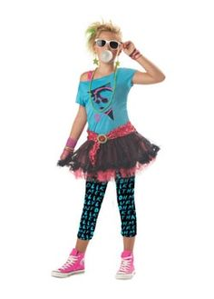 Tweens 80s Valley Girl | Cheap Tween Halloween Costume for Girls