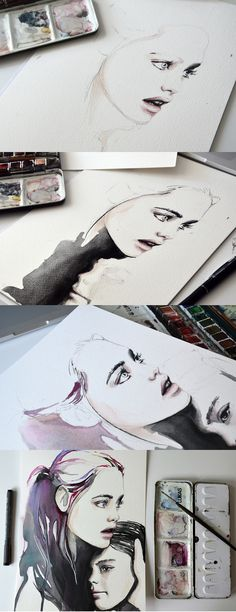It's been such a long time since the last post about watercolor illustrations.