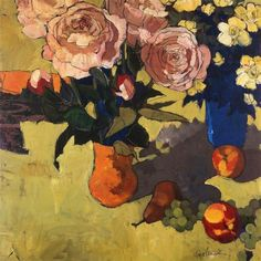 ❀ Blooming Brushwork ❀ - garden and still life flower paintings - Gabriela Ibarra