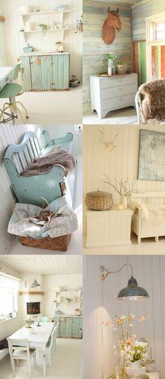 aqua, white, crream and sand...aqua blue, shabby chic decor, cottage chic home decor.