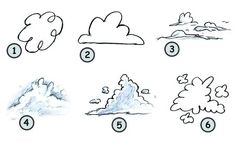 How to draw cartoon clouds step 4 Drawing Cartoon Characters, Character Drawing, Cartoon Drawings, Drawing Tips, Drawing Reference, Drawing Hair, Drawing Drawing, Drawing Stuff, Figure Drawing