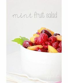 Feeling fruity: Fruit salad recipes to statisfy your sweet tooth Healthy Food Blogs, Easy Healthy Recipes, Vegetarian Recipes, Mint Recipes, Healthy Eats, Healthy Foods, Fruit Salad Recipes, Fruit Salads, New Fruit