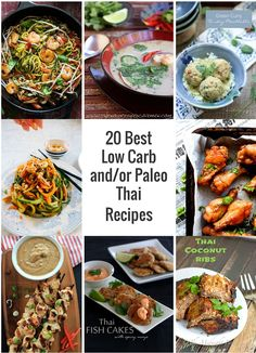 I've scoured the interwebs for 20 of the best low carb Thai recipes that I could find and posted them here for you to try! Paleo, Keto & Atkins friendly!