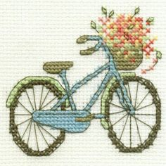 vintage bicycle cross stitch Source by bhattacharyyajh 123 Cross Stitch, Cross Stitch Cards, Cross Stitch Flowers, Cross Stitch Designs, Cross Stitching, Cross Stitch Patterns, Crewel Embroidery, Ribbon Embroidery, Cross Stitch Embroidery
