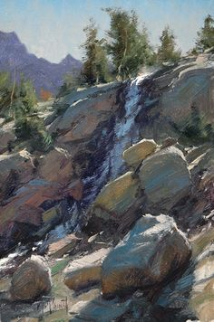 High Country Autumn by Kathleen Dunphy Oil ~ 8 x 6 Watercolor Landscape, Landscape Art, Landscape Paintings, Landscape Photography, Classic Paintings, Beautiful Paintings, Waterfall Paintings, River Painting, Nature Drawing