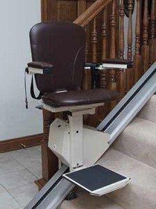 Elegant Stair Lift In Walnut Chair Stair Lift Chair Lift