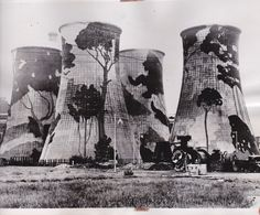 cooling towers Ayelstone painted to trick the Germans into not bombing them Leicester, Towers, German, Cool Stuff, Boots, Winter, Painting, Deutsch, Crotch Boots