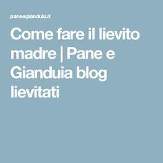 Come fare il lievito madre   Pane e Gianduia blog lievitati