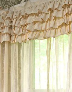 Ivory Shabby Chic Bedroom Curtain by PaulaAndErika on Etsy, $95.00