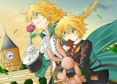 Jack and Oz from Pandora Hearts | Anime Boys | Blonde Hair Green Eye