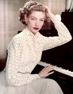 Lauren Bacall - At Piano