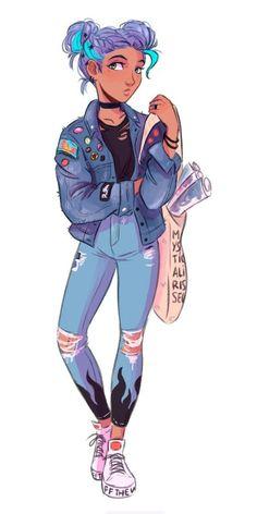 Cartoon Girl Drawing, Girl Cartoon, Cartoon Drawings, Cute Drawings, Lou Le Film, Cartoon Kunst, Cartoon Art Styles, People Art, Character Drawing