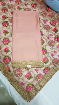 Absolutely gorgeous shade of blush with an embellished dupatta.