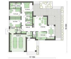 Удобный стильный одноэтажный дом Building Plans, Building A House, Sims House, House Plans, Floor Plans, Flooring, How To Plan, Houses, Beach