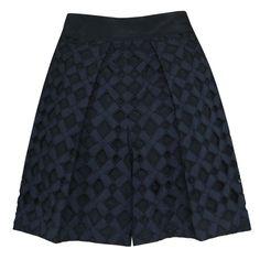 Y's YOHJI YAMAMOTO $940 baggy oversize pleated diamond cut-out shorts 2-JP/6 NEW #YohjiYamamoto #BermudaWalking