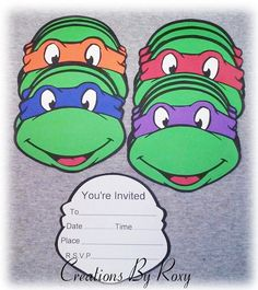 Teenage mutant ninja turtles birthday party invitations ninja turtle inspired invitations by creationsbyroxy on etsy 800 solutioingenieria Images