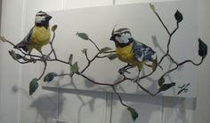 Pair-of-blue-tits-Elizabeth-Jardine-Wall-mounted-sculpture-40cmx20cm