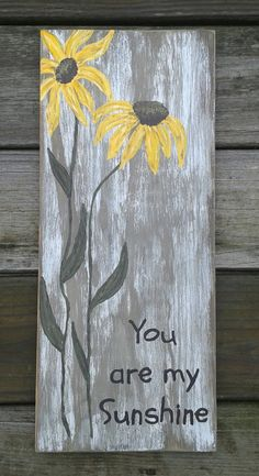 You  Are My Sunshine Wall Art by CountryMouseDecor on Etsy