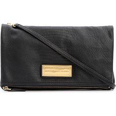 MARC BY MARC JACOBS Too Hot Too Party fold-over leather clutch (Black