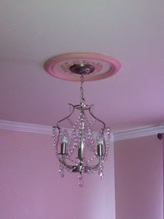 HOUSE OF THRIFTY DECOR: Our Nursery Part 3..every princess needs a chandelier right?