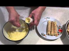 Wafer rolls with lemon and custard. Russian Recipes, Custard, Rolls, Lemon, Food And Drink, Baking, Breakfast, Bulgarian, Goodies