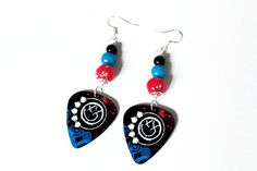 Blink 182 Guitar Pick Earrings by HellcatBoutique on Etsy, $12.00